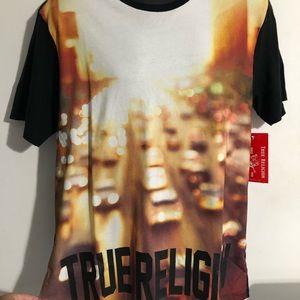 True religion men's tee  logo shirt new